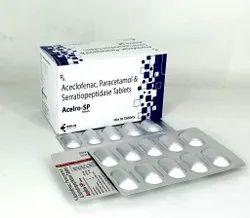 Aceclofenac, Paracetamol,and Serratiopeptidase Tablet