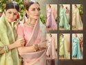 Fancy Ladies Linen Saree