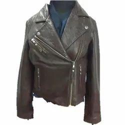 Full Sleeve Brown MBE/ Oasis Sheep Leather Jacket