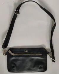 Bum Black Leather Bag