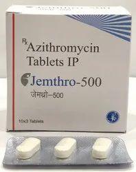 JEMTHRO-500 Azithromycin 500mg Tablet, 30 Tablets