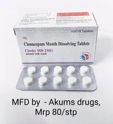 Clonazepam Mouth Dissolving 2mg Tablet