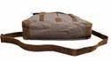 Canvas Leather Shoulder Bag