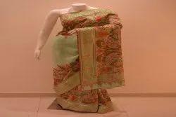 Printed Party Wear Jamawar handwork Saree, 6.3 m (with blouse piece)
