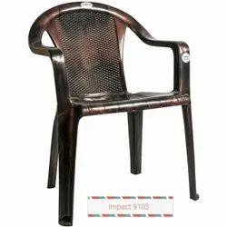 Comfortable Brown Plastic Chair