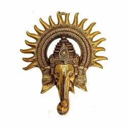 Gold Plated Lord Ganesha Wall Hanging For Home Decoration & Corporate Gift