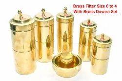 Indian Brass Coffee Filter
