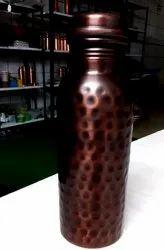 Antique Copper Bottle Hammered 950ml