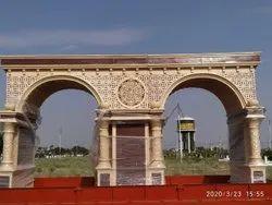 frp Golden Main Entry Gates, Size: 22x11 Feet