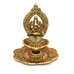 Metal Golden Oxidized Ganesha DIya For Pooja Purpose & Corporate Gift