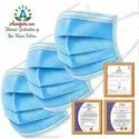 3 Ply Mask With Nose Pine Melt Blown Non Woven Fabric
