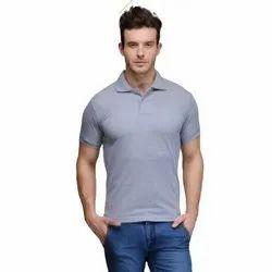 Mens Half Sleeves Plain T-Shirt