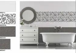 Ceramic Mosaic Gloss Bathroom Digital Wall Tiles, Size: 10x15 inch, Thickness: 8mm