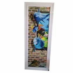 Hinged White Base 20mm Digital PVC Door, Interior, Size/Dimension: 3*7 Feet