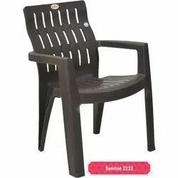 Black Plastic Garden Chair