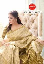 Apple Womaniya Vol 16 Bhagalpuri Silk Saree Catalog