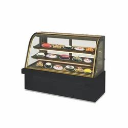 Celfrost Confectionary Curved Glass Cold Showcase with Black Marble Base CS 42
