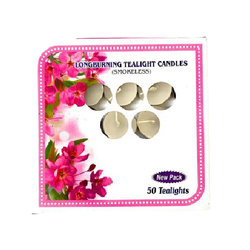 Round White Tea Light Candles Pack Of 50 pcs