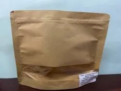 Kraft Paper With Window Stand Up Pouch