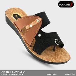 Multicolor Daily Wear ladies slipper, Size: 4*8