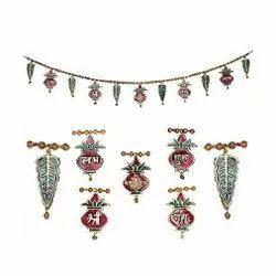 Metal Ganesh Kalash Toran / Bandarwal For Door Hanging & Corporate Gifts