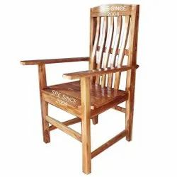 Teak Wood Back Support Chair