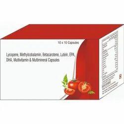 Lycopene, Methylcobalamin, Betacarotene, Lutein, EPA, DHA, Multivitamin & Multiminerals Capsules