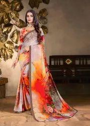 Pure Silk Digital Printed Saree