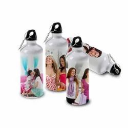 White Aluminium Sublimation Printed Water Bottle