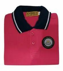 Red Kids School Uniform Cotton T Shirt