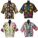 Wool Embroidery Long Kimono Jackets