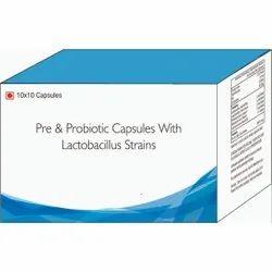 Pre & Probiotic Capsules With Lactobacillus Strains Capsules
