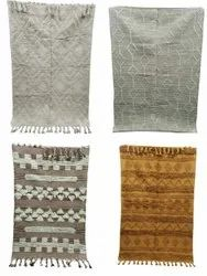 Wool Woven Tuff Dhurrie Rugs, For Home And Hotel Use, Size: 4'6
