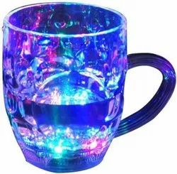Transparent Glass Inductive Rainbow Color Cup, For Home, Capacity: 500ml