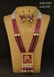 Fusion Arts Traditional Beaded Meenakari Necklace Set