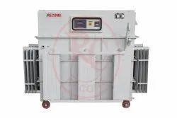 Three Phase Variac Type Servo Stabilizer - Oil Cooled