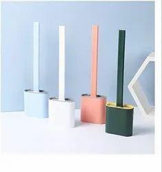 Green ABS Plastic Silicon Toilet Brush