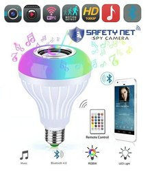 SAFETYNET Smart Wi-Fi Bulb Camera 3 in 1 Hidden Camera Bluetooth Speaker  LED Lights Bulb Camera