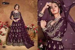 Design No 5105 Violet Anarkali Designers Suit