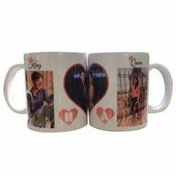 White Printed Ceramic Sublimation Mug, For Gifting, Capacity: 500ml