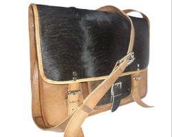 Hair On Leather Laptop Bag