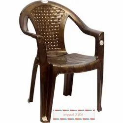 Brown Visitor Plastic Chair