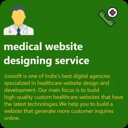 HTML5/CSS Responsive Medical Website Designing Service, With 24*7 Support