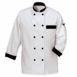 White Chef Coat With black Cuff