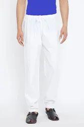 Rijay Collection White Men Cotton Pyjama, Size: Large