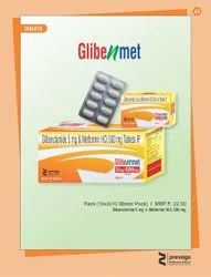 Glibenclamide and Metformin HCl Tablets IP