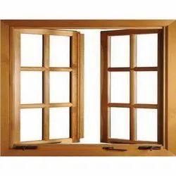 Rectangular Brown Meranti Window Frame