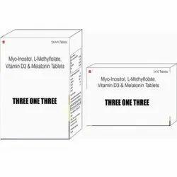 Myo-Inositol L-Methylfolate Vitamin D3 & Melatonin Tablets