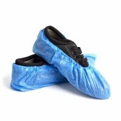 Blue Plastic Disposable Shoe Cover, For Hospital