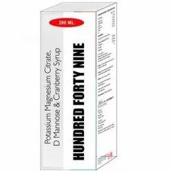 Potassium Magnesium Citrate, D Mannose & Cranberry Syrup